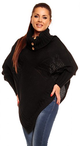 zeta-ville-poncho-en-tricot-torsade-a-col-montant-chauve-souris-femme-312z-noir-one-size-eu-36-38-40