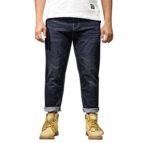 Setsail Herren Sommer Jeans Casual Lang Skate Board Stright Fashion Jean Plus Größe S-6XL Laufhose Bequeme Hose (Größe Denim Plus)