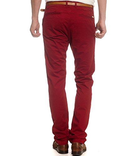 Scotch & Soda - Pantalon - Homme rouge rouge foncé 77 dark rum