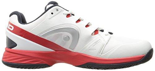 Head NZZZO Pro, Scarpe da Tennis Uomo Bianco (White/red Whrd)