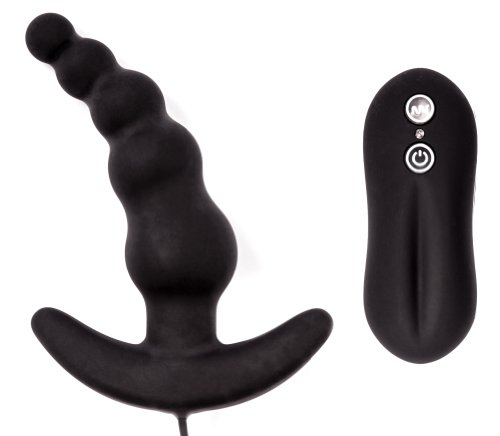 BLACK-LINE-Perlenkette-mit-Krmmung-und-verschienden-Vibrationsmodis-auch-fr-den-G-Punkt-und-P-Punkt-Bondage-BDSM-Fetisch