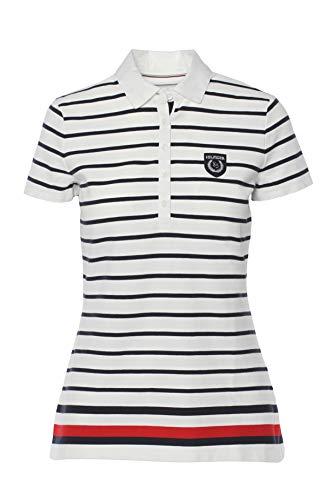 Tommy Hilfiger Poloshirt, Polo, Damen Polo Shirt, Women's Polo, Large (Damen Kleid Shirt Hilfiger Tommy)