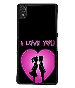 PrintVisa Designer Back Case Cover for Sony Xperia Z3 :: Sony Xperia Z3 Dual D6603 :: Sony Xperia Z3 D6633 (Love Couples Heart Relation affection)