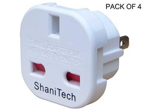ShaniTech-Pack-of-4-UK-to-US-Travel-Adaptor-suitable-for-USA-Canada-Mexico-Thailand-Refer-to-Description-for-country-list