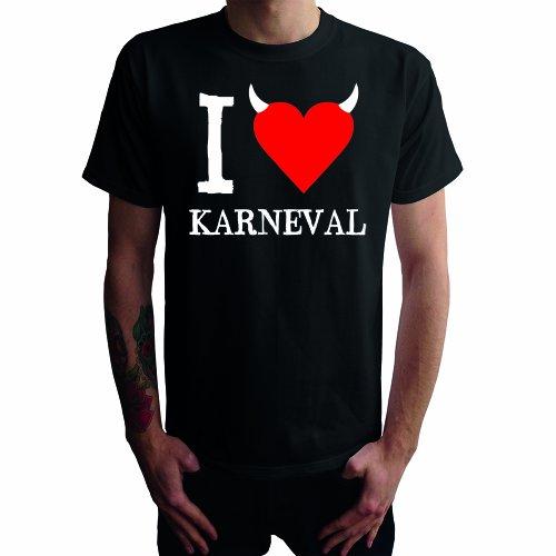 I don't love Karneval Herren T-Shirt Schwarz