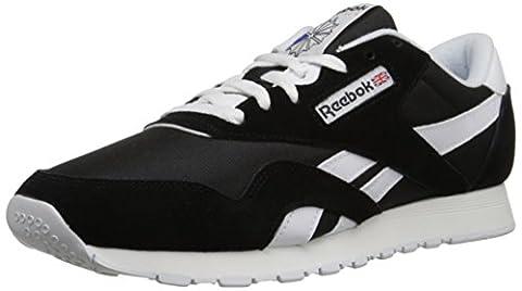 Reebok Classic Nylon, Herren Sneakers, Schwarz (Black/White), 45 EU (10.5 Erwachsene UK)