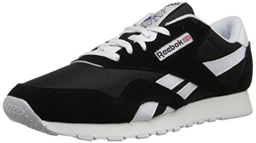 Reebok Herren Classic Nylon Low-Top Schwarz (Black/White) 45 EU