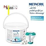 Metacril Ossigeno Attivo in pastiglie da 20gr - OxiNet 20 kg.3 + Dosatore - per Piscina o Idromassaggio (Teuco,Jacuzzi,Dimhora,Intex,Bestway,ECC.) Spedizione IMMEDIATA