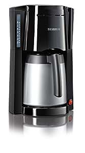 Severin KA 9481 Kaffeeautomat mit Thermokanne, schwarz / silber
