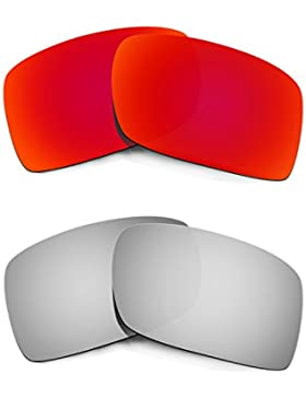 Hkuco Mens Replacement Lenses For Oakley Gascan Red/Titanium Sunglasses