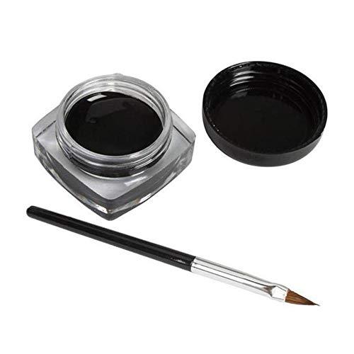3 PCS mini eyeliner gel crème avec brosse maquillage cosmétique noir vie étanche E