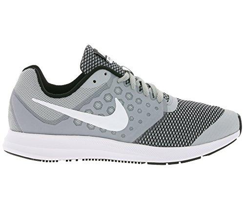 Nike Downshifter 7 Gs, Scarpe da Ginnastica Bambino Grigio (Wolf Grey/White/Black)