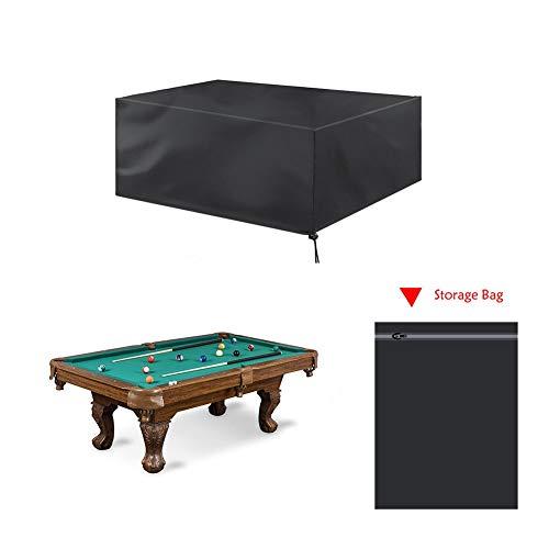 Abdeckung für Gartenmöbel Sets, Billard-Snooker-Tischabdeckung, Faltbare, Wasser- und staubabweisende Schutzabdeckung für Billard-Pools - 2 STÜCKE (Size : 287x155x82cm) - Billard 2 Licht