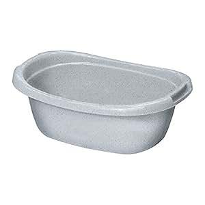 Curver 2044190 Baquet Ovale Plastique Luna/Gris 55 L