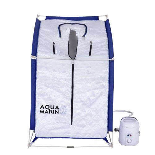 Aquamarin Mobile Dampfsauna schneller Auf- und Abbau dank Klapptechnik inkl. Zeitschaltuhr Heimsauna Intertek GS geprüft -