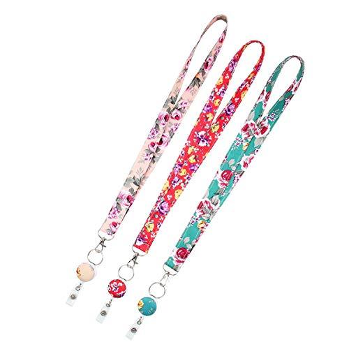 FOONEE 3 Stück Umhängebänder für Schlüssel/Ausweishalter, niedliches Schlüsselband mit Ausweishalter - Wandteppich Band mit Ausweishalter für Frauen #4 (Niedliche Für Schlüsselbänder Schlüssel)