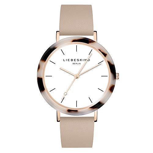Liebeskind Berlin Damen Analog Quarz Uhr mit Leder Armband LT-0184-LQ
