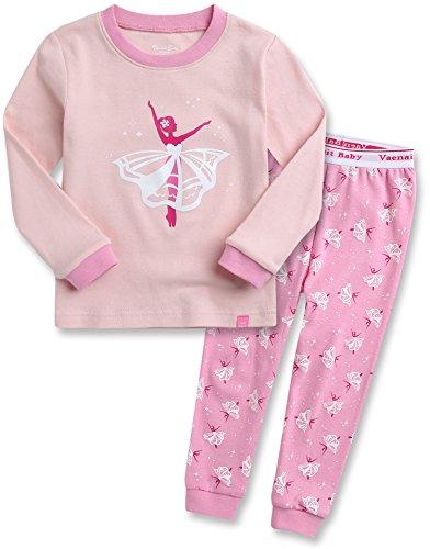 Kinder Maedchen Langarm zweiteilig Schlafanzug Pajamas 2pcs Set Ballerina XL