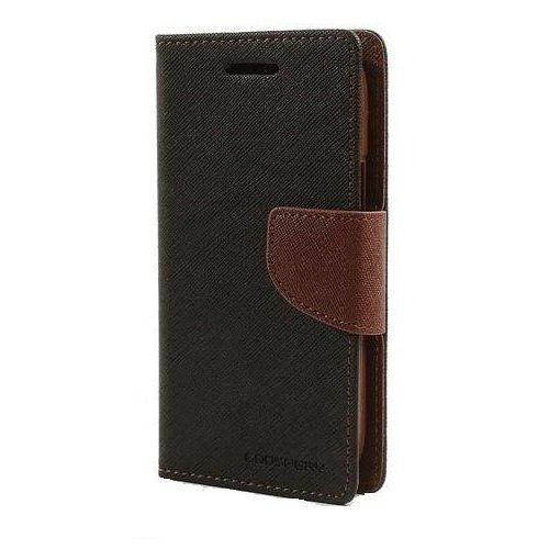 Rapid Zone Mercury Goospery Faincy Diary Wallet Flip Cover For Sony Xperia C - Black&Brown  available at amazon for Rs.189