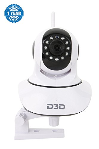 Drumstone WiFi Home Security Camera, Wifi Wireless IP Camera, Pan/Tilt Control, 4x Digital Zoom, Night Vision and Two-Way Audio Suitable with Smartphones (One Year Warranty, Assorted Colour)