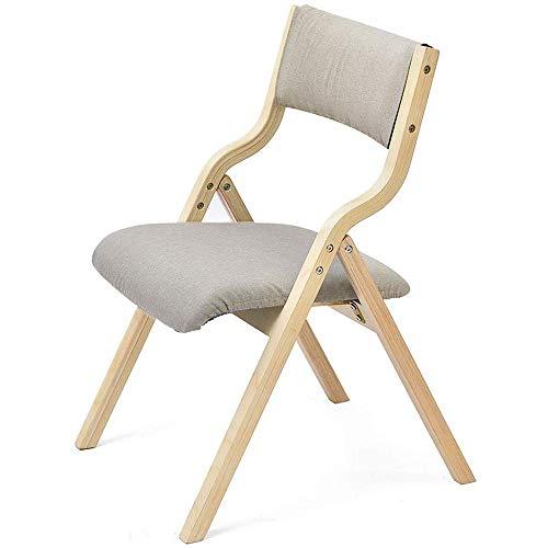 LMDS Moderner Haushalt Stuhl, einfacher Zurück Schreibtischstuhl Nordic Adult Holz Klappstuhl, Grau