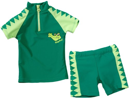 Playshoes Unisex - Baby Babybekleidung/ Badebekleidung UV-Schutz nach Standard 801 und Oeko-Tex Standard 100 Bade-Set Krokodil mit Windeleinsatz 460022, Gr. 74/82, Grün (900 original)