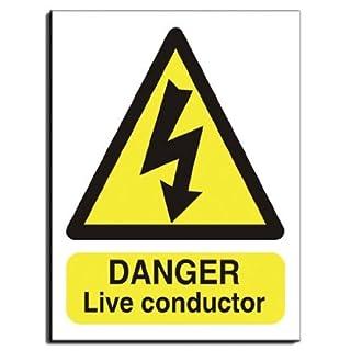 Danger Live Conductor Sign - Semi Rigid Plastic - 300x400mm(WA-003-RM) by AcmeSigns