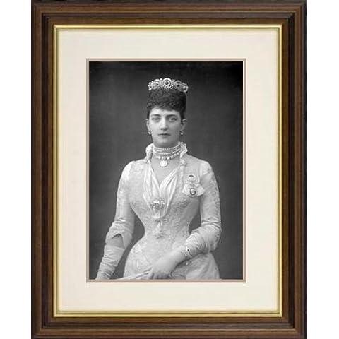 Stampa con cornice di 'Alexandra (1844-1925 di