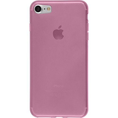 PhoneNatic Case für Apple iPhone 8 Hülle Silikon Crystal Clear transparent Cover iPhone 8 Tasche + 2 Schutzfolien Transparent