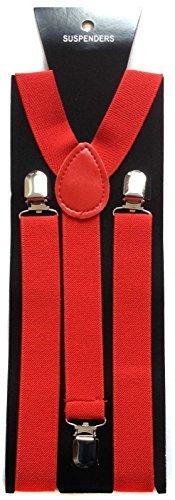 da uomo 25mm Largo Bretelle Regolabili bretelle Elastico in rosso da Trimming Shop