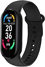 Akin Fitness Tracker Orologio da donna M6 Smart Fitness Watch con frequenza cardiaca, pressione sanguigna e mo