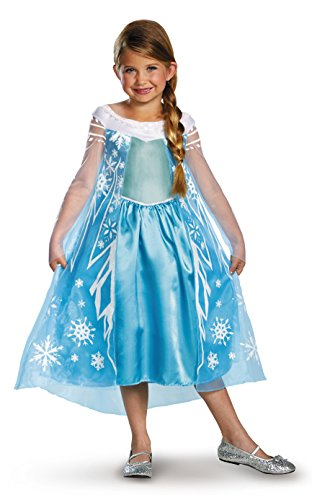 Disney Pixar Frozen Queen Elsa Dress Deluxe Kostüm (Child 7/8)