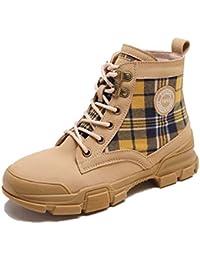 7ab4b8bffcb20 KPHY Zapatos de Mujer Otoño Botas Martin Botas British Wind Botas  Estudiantes Joker Locomotora Sola