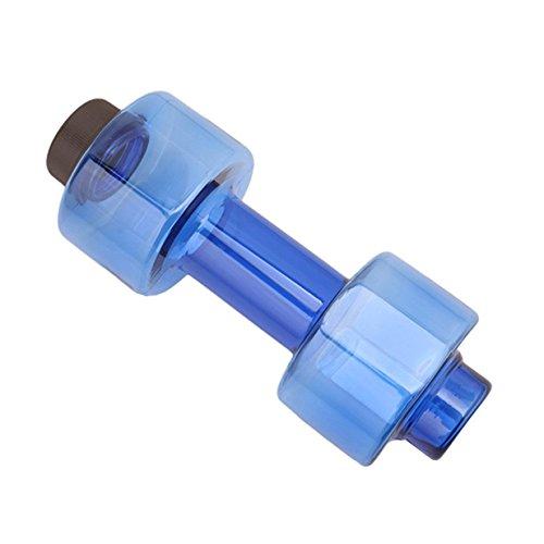 Lalang Tragbare Fitness Equipment Form Hantel Yoga Hantel Trinkflasche Dicht Cup, Creative Sport Wasser Flaschen (blau) (Hantel-equipment)