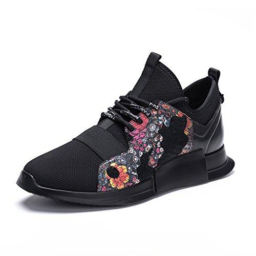 Chaussures Décontractées Mâle Dress Montagne Escalade Automne Extérieure Fond Souple Sport Chaussures Slip On Imprimer Noir Noir