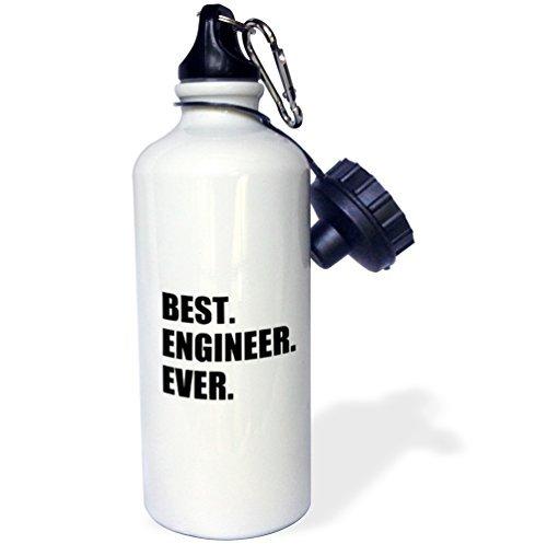 Best Ingenieur Ever Fun Geschenk für Engineering Tätigkeit schwarz Sport Wasser Flasche Edelstahl-Flasche für Frauen Herren Kinder 400ml