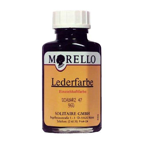 Morello Lederfarbe für Glattleder 40ml Schwarz