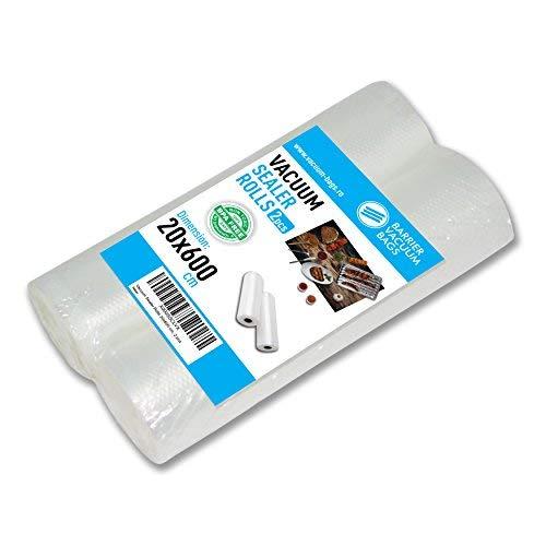 Bolsas Envasado al Vacío   Para el empaquetado de alimentos   Muchas dimensiones disponibles   Compatibles con cualquier maquina envasadora al vacío para uso doméstico/hogar