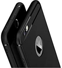 Amozo Soft Silicone with Anti Dust Shockproof Slim Back Cover for Apple iPhone 6 and 6S(Black)