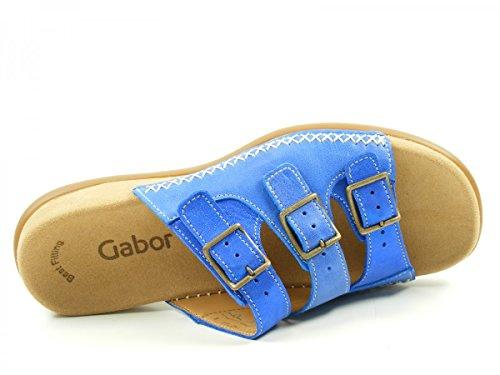 Blau Gabor 4370903 Best Fitting Sandalen Damen Pantoletten