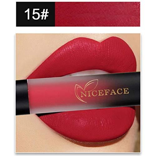 Missoul Fashion Gradient Color Lip Gloss Lip Lingerie Matte Liquid Lipstick Makeup Nature Gloss Waterproof Beauty (O) -