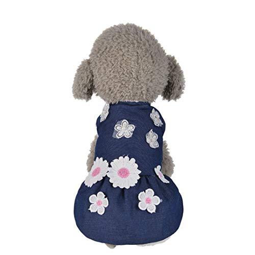 JINHONGH Cowboy T Applique blauer Rock Hund Haustier Kleidung (Color : Blue, Size : XL) -