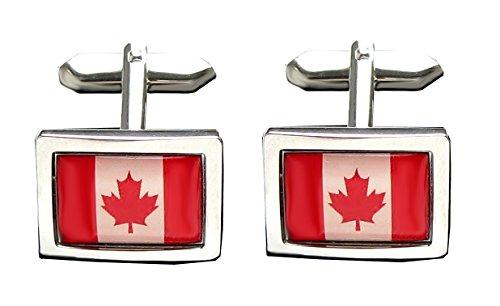 Unbekannt Kanada Manschettenknöpfe kanadische Flagge - National-Fahne rot-weiss inkl. Geschenkbox