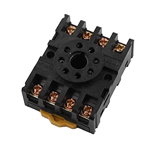 2-m4x 208bornes à vis 35mm Rail DIN Relais Socket base pour