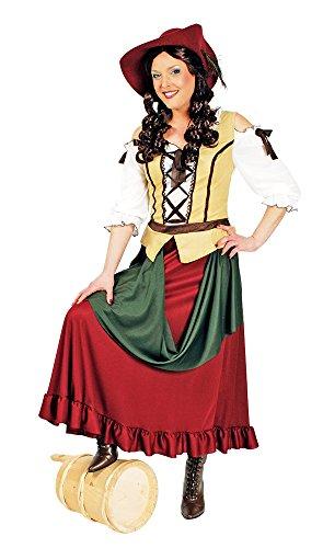 Tavernen Mädchen Kostüm Gr. 36 38 - Tolles Mittelalter Kostüm für Karneval, Ritterfest oder Mottoparty