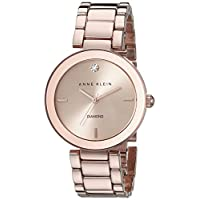 Anne Klein Women's AK-1362RGRG Diamond Dial Watch Rose Gold/Rose Gold