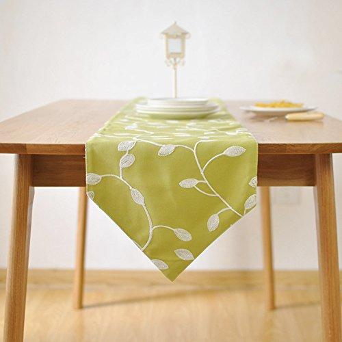 Preisvergleich Produktbild GGCCX Tischläufer Luxus Besticktem Stoff Tischläufer , Green , 30*180Cm