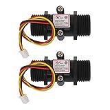 Sharplace 2X Wasserdurchfluss Sensor Durchflussmesser Halle Durchfluss Sensor Wasser Kontrolle