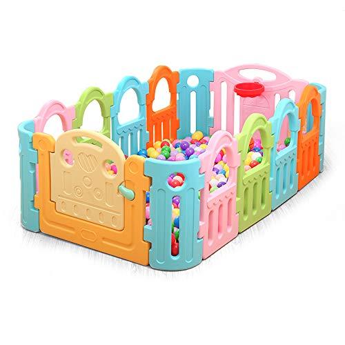 Barrières MAHZONG Baby Play clôture bébé Crawl bébé Enfant Garde-Corps de sécurité Jouet âge Cadeau -185 * 110 * 68 cm