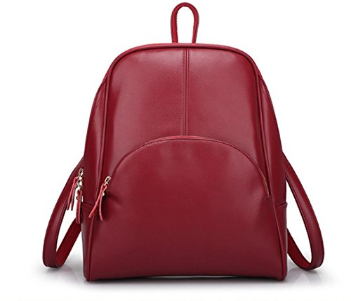 FEN Sacs à main en cuir sac à bandoulière tendance coréenne de loisirs sac à dos de voyage de la femme forfait sauvage (rouge, noir, bleu, rose, kaki)